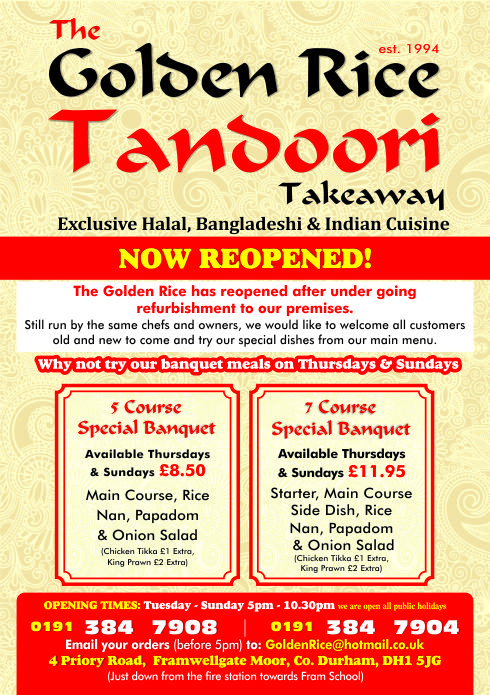 1 - Golden Rice Tandoori A5
